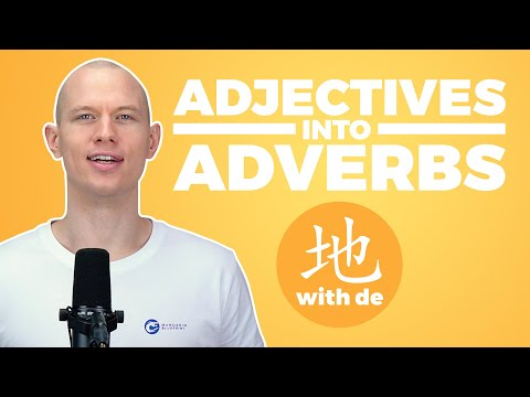 how to use de in Chinese, How to use de in Chinese – Chinese Particle 地