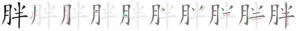 Chinese character 胖