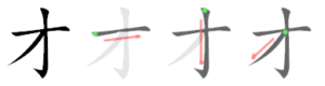 Chinese character 才