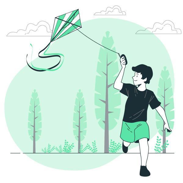 Kite Flying Boy