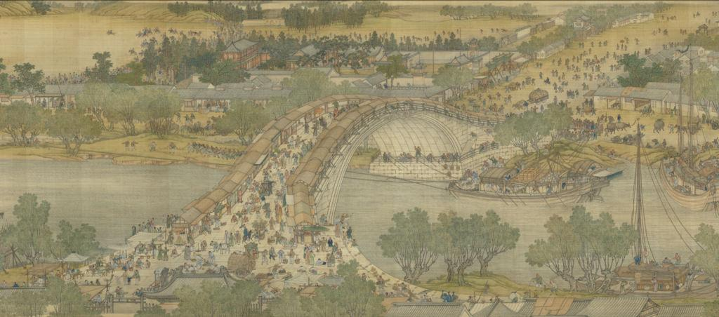 18th-century remake of the Qingming painting